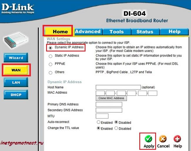 router d-link 604