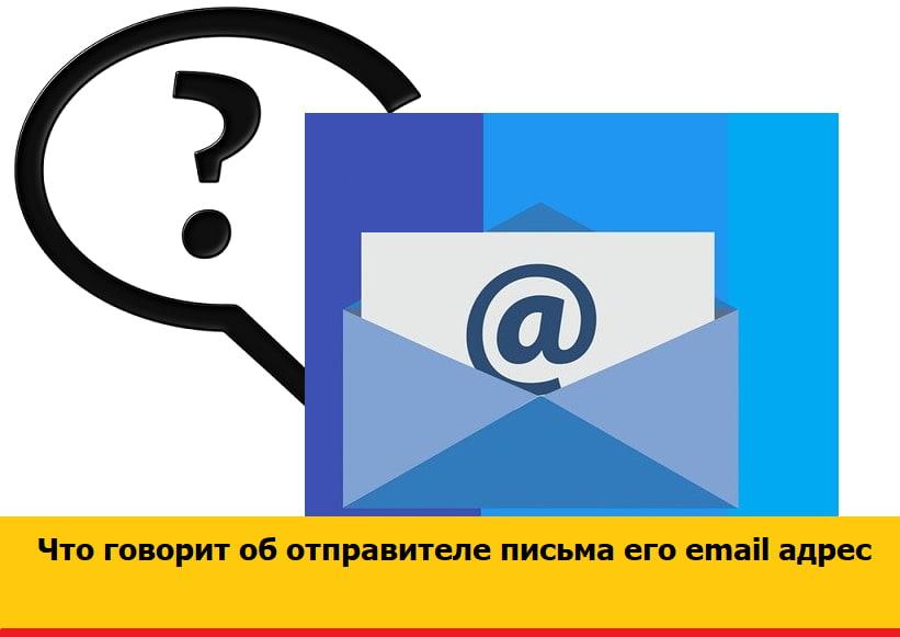 Что говорит об отправителе письма email адрес