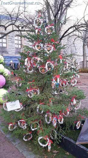 парад елка с бубликами