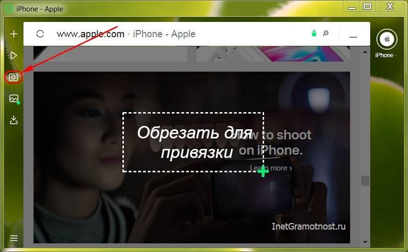 Скриншотер в Opera Neon