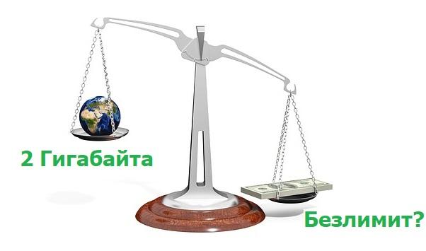2 гигабайта интернета это сколько