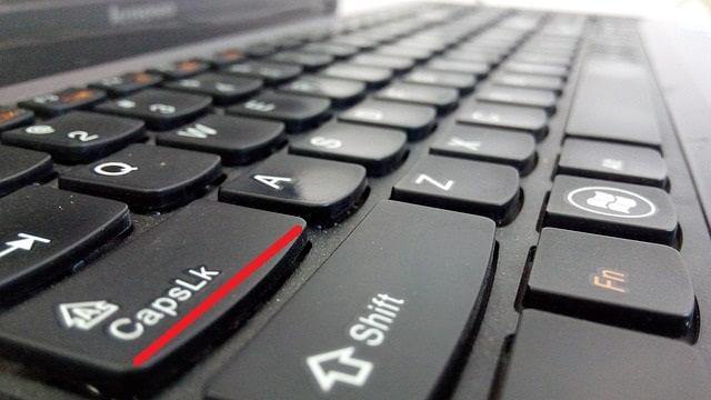 Клавиша Caps Lock на клавиатуре