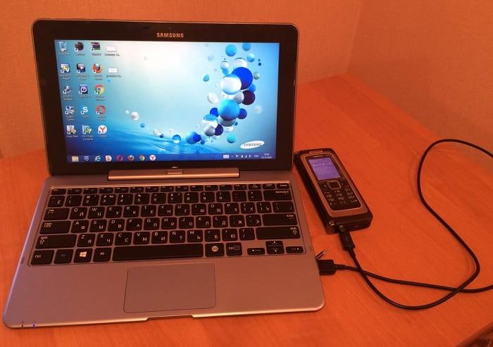 Кнопочный телефон и интернет в компьютер по проводу